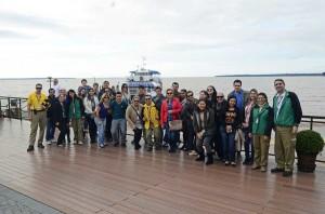 Grupo fez a visita ao Circuito Turístico de Itaipu