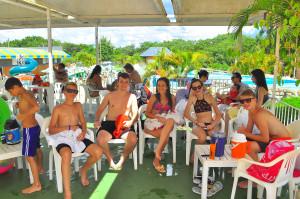 O administrador Darlei, de Marechal Rondon, visitou o Acquamania com a família - Foto Digital