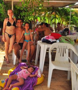 O professor Saulo, de São Paulo, esteve num parque aquático pela primeira vez e gostou - Foto Digital