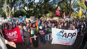 Adesão à greve contou com 36 sindicatos e organizações sociais - foto Marcos Labanca