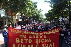 Ato unificado foi organizado por todos os sindicatos da cidade - foto APP-Sindicato-Foz