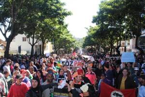 Cerca de 16 categorias cruzaram os braços em adesão à greve - foto APP-Sindicato-Foz