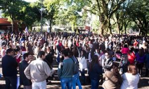 Trabalhadores ocuparam as vias de saída do TTU - foto Marcos Labanca