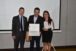 Marcos Rigoni, Gilmar Piolla e Elizangela de Paula Kuhn - foto Assessoria