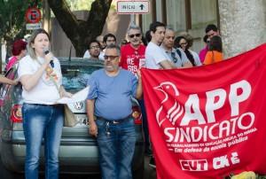 Cátia Castro - Escolas sem nenhum funcionário em determinados turnos - foto Marcos Labanca
