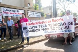 Categoria denunciou a falta de funcionários de escola - foto Marcos Labanca