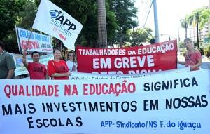 Educadores fazem dia de greve em defesa da educação - foto Marcos Labanca (arquivo)