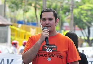 Diego Valdez, presidente da APP-Sindicato-Foz - foto Marcos Labanca