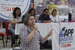 Cátia Castro, presidenta da APP-Sindicato-Foz - foto APP-Sindicato