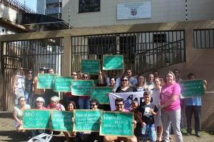 Educadores protestam em frente ao NRE de Foz - foto APP-Sindicato-Foz