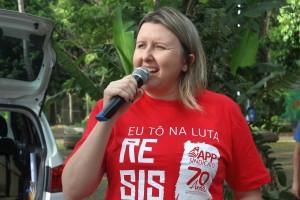 Cátia Castro, presidenta da APP-Sindicato-Foz - foto APP-Sindicato-Foz - Arquivo